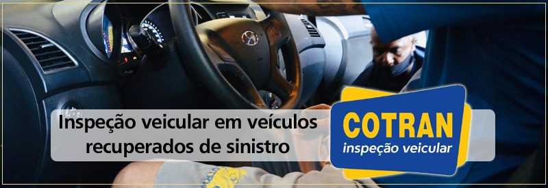 Inspeção de carro recuperado de acidentes
